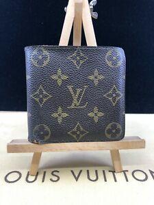 LV1757 Louis Vuitton Brown Monogram Canvas Marco Bifold MENS Wallet