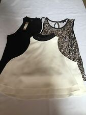 3 Tops From River Island Size 10-12 Excellent Condition
