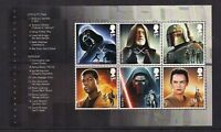 GB 2015 Star Wars~Prestige Stamp Booklet Pane ~1~ex DY15~Unmounted Mint