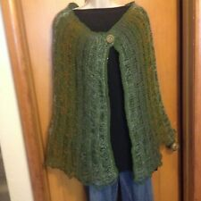 Hand Knit Woman's  Poncho/Shawl