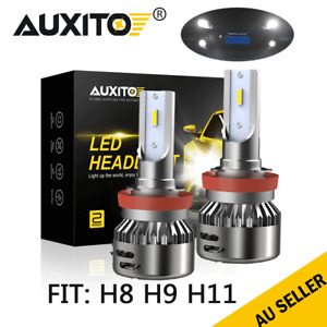 AUXITO H11 H9 H8 CREE LED Car High Low Beam Headlight Lamp Kit Globes High Power