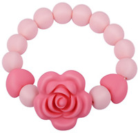 Teething Beads Bracelet Ring for Baby Girl Boy, Handmade Silicone Teether Toy