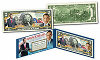 BARACK OBAMA Official *44th President* Genuine Legal Tender Colorized US $2 Bill