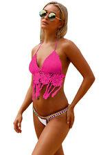 Costume Da Bagno Aperto Uncinetto Crochet Bikini slim sling Swimwear Swimsuit L