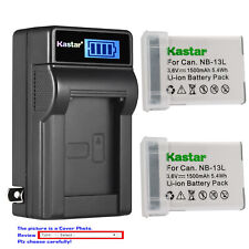 Kastar Battery LCD Wall Charger for Canon NB-13L CB-2LH & PowerShot G9 X Mark II