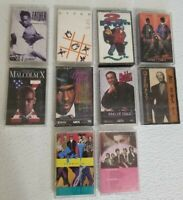 Lot of 10 Vintage 80's 90's Cassette Tapes Pop Hip-Hop Rap