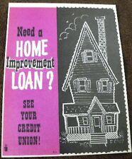 Vintage Credit Union Ad / Bank Ad  / Finances Home Improvement Loan