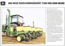 John Deere Einzelkornsägerät 7300, orig. Prospekt 80/90er Jahre