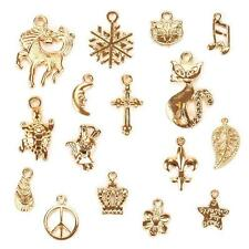 50Pcs/Set Gold Plated Mixed Style Charm Pendants DIY Jewelry Craft Findings PR