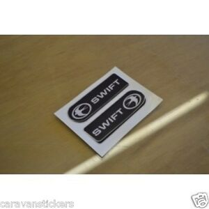 SWIFT - (RESIN DOMED) - Caravan Dent Covers Stickers Decals Graphics - PAIR