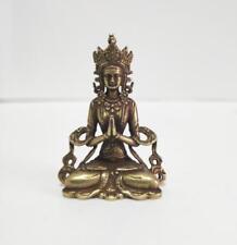 Buddhism pure brass vajra Buddha small statue