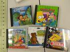 Lot Of 5 Cd-rom Computer Games Disney Tarzan Winnie The Pooh The Simpsons Little