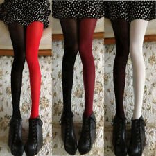Women Velvet Tights Thin Pantyhose Contrast Color Stockings Socks Hosiery Casual