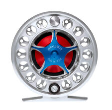 NEW BAUER SST5 SILVER FLY REEL BLUE KNOB #4-6 WEIGHT FREE $100 LINE