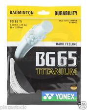Genuine Yonex BG65 Ti Badminton String BG 65Ti - 10m - White - Free UK P&P