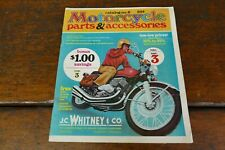 Vintage 1974 JC Whitney Motorcycle Parts Accessories Catalog No.6 w/ Order Form