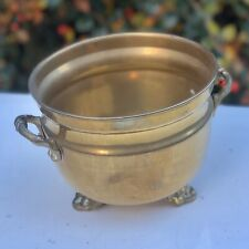 Cauldron Shaped Brass Antique Plant Pot Stand Holder Vase Jardiniere Container
