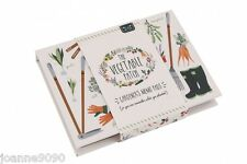 VEGETABLE PATCH STICKY MEMO PAD NOTES NOTEPAD PLAIN & LINED GARDENER HOME GIFT