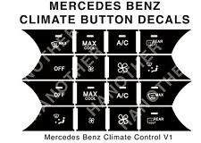 MERCEDES-BENZ AC CLIMATE BUTTON DECALS STICKERS W204 C250 C300 C350