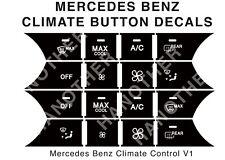 MERCEDES-BENZ AC CLIMATE BUTTON DECALS STICKERS W204 C250 C300 C350