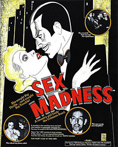 Anti Sex Madness Propaganda Movie Poster Madness 1930 Cult Political Hippie Gift