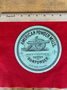 Gun Powder Keg Advertising