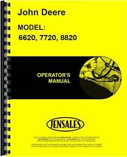 John Deere 6620 7720 8820 Sn 615,001 up Combine Operators Manual Jd-O-Omh133890