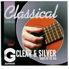 Guvnor - Made In USA - Nylon Classical Guitar Strings - Clear & Silver Wound