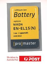 ProMaster Lithium ion battery replacement for: Nikon EN-EL15(N) 7v/1900mAh