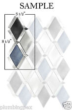 SAMPLE Diamond Blue Black Aluminum Kitchen Bath Wall Mosaic Backsplash Tiles