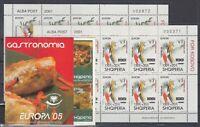 AV5531/ ALBANIA – 2001 / 2005 MINT MNH MODERN LOT – CV 200 $