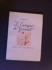 ARAGON - L'Enseigne de Gersaint. - 1946 - Edition originale N° sur vélin