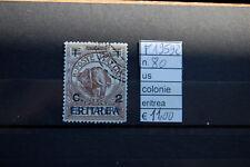 FRANCOBOLLI ITALIA COLONIE ERITREA USATI N°80 (F19592)