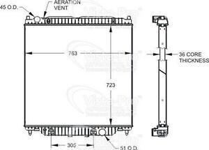 Vista Pro 433836 Radiator 05-07 F250 350 450 550 6.0L 6.6L W/ 2 Inch Lower Hose