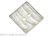 1 BOUTON  du créateur BICHE DE BERE métal CARRE forme géométrique 16mm button