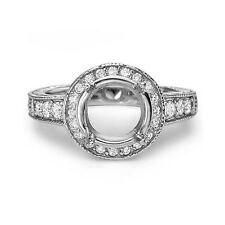 0.50 CARAT DIAMOND ENGAGEMENT RING MOUNTING SETTING 14k WHITE GOLD