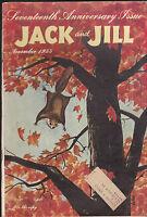Jack and Jill Magazine Hobby Paper Doll Centerfold November 1955