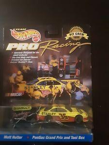 Vintage Hot Wheels NASCAR Pro Racing Pit Crew Series Matt Hutter Pontiac