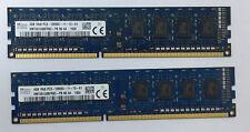RAM SK Hynix 8GB 2x4GB DDR3-1600 HMT451U6BFR8C-PB DIMM Memory 240pin Desktop