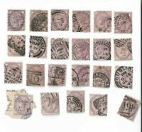 UK Queen Victoria Penny Lilac stamps x 23 (Batch 2)