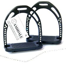 JINN STIRRUPS HORSE RIDING LIGHT & DURABLE ALUMINIUM WITH 44 CRYSTALS AMIDALE