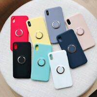 For iPhone Xs Max/Xs/XR/X 6 Plus Shockproof Soft TPU Case With Ring Stand Holder