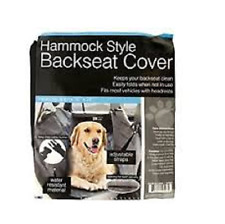 "Dog Pet Hammock Style Backseat Car Cover Hair Snap Safety Buckle 56"" x 54"" Grey"
