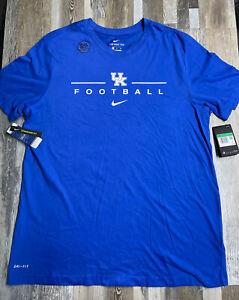 New Kentucky Wildcats Mens Nike Football Dri-Fit T-Shirt Men's Sz XL