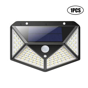 100LED Solar Power Motion PIR Sensor Wall Lights Security Outdoor Garden Lamps