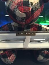 A. T. Cross Gilford Chrome BallPoint  BP Ball Point Pen NIB