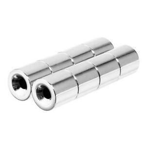1/2 x 1/2 Inch Neodymium Rare Earth Countersunk Ring Magnets N42 (8 Pack)