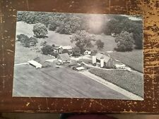 "Aerial View Farm Black & White Digital Photograph Mounted On Board 24"" by 16"" B"