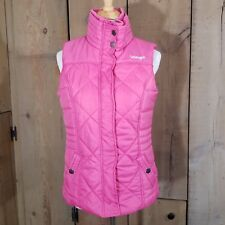 Wrangler Zipper Quilted Puffer Vest Jacket Pink Ribbon Breast Cancer Size Small