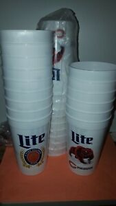 25PC  Lite Beer CHICAGO BEARS BPA Free Reusable Plastic  Beer Cups NW made USA